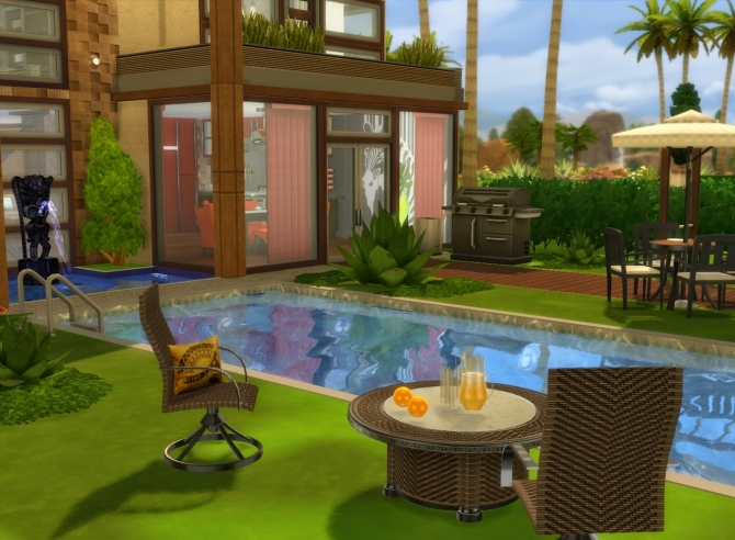 Sims 4 Amanzi house at Architectural tricks from Dalila