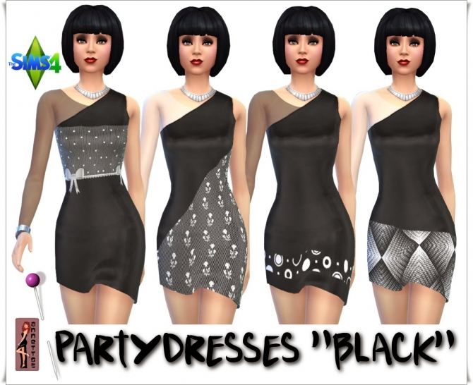 Black & White Party dresses at Annett's Sims 4 Welt image 9016 Sims 4 Updates