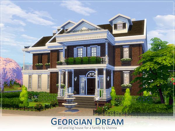 Sims 4 Georgian Dream house by Lhonna at TSR