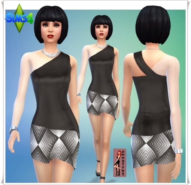 Black & White Party dresses at Annett's Sims 4 Welt image 9120 Sims 4 Updates