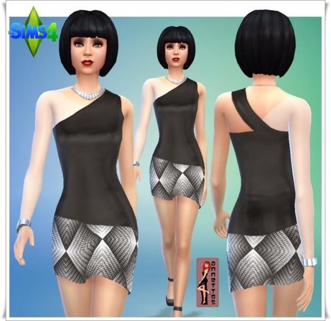 Sims 4 Black & White Party dresses at Annett's Sims 4 Welt