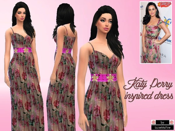 Katy Perry inspired dress by IzzieMcFire at TSR image 914 Sims 4 Updates