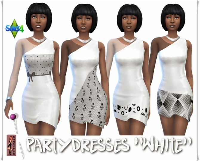 Black & White Party dresses at Annett's Sims 4 Welt image 9218 Sims 4 Updates