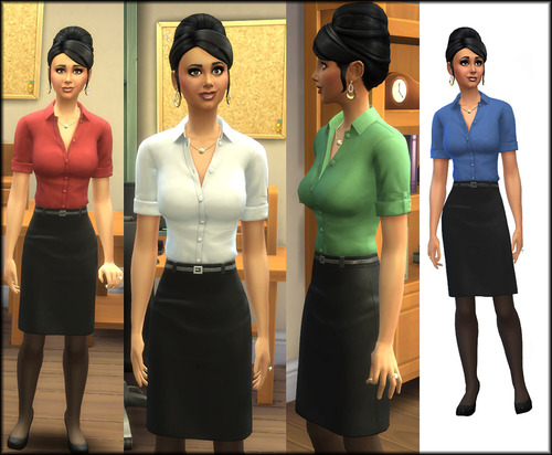 Sims 4 Business Office Worker Recoloured at Julie J