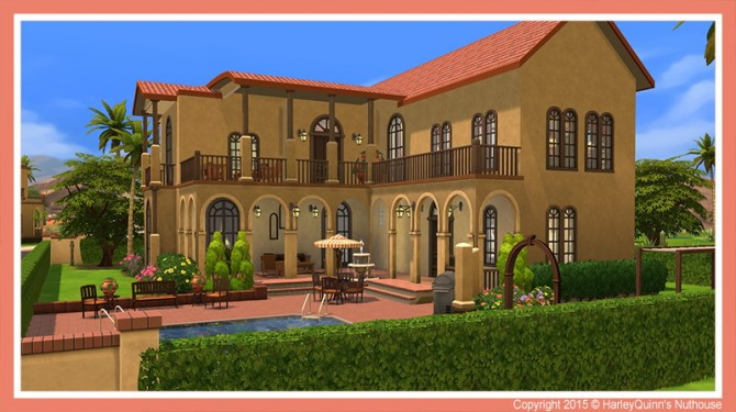 The Hacienda house at Harley Quinn's Nuthouse image 934 670x375 Sims 4 Updates