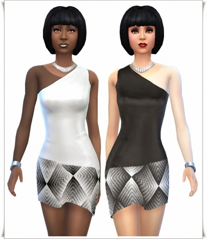 Black & White Party dresses at Annett's Sims 4 Welt image 9415 Sims 4 Updates