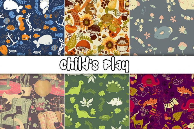 Sims 4 Child's Play set of 5 wallpapers at Gelly Sims