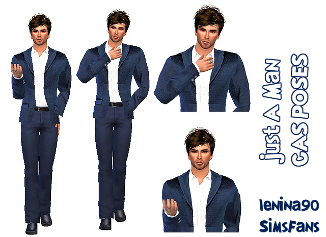 Sims 4 Just A Man 2 CAS POSES by lenina 90 at Sims Fans