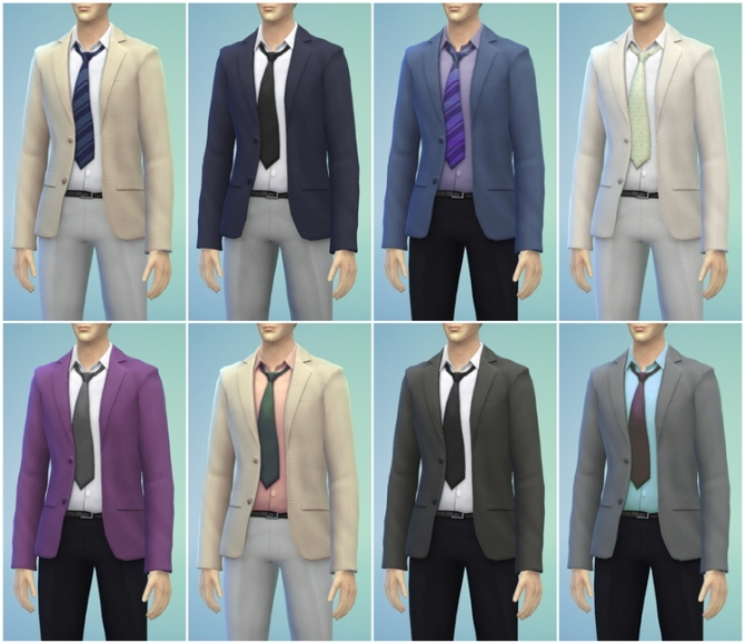 Business suit retouch V4 (mix & match) at Rusty Nail image 9513 Sims 4 Updates