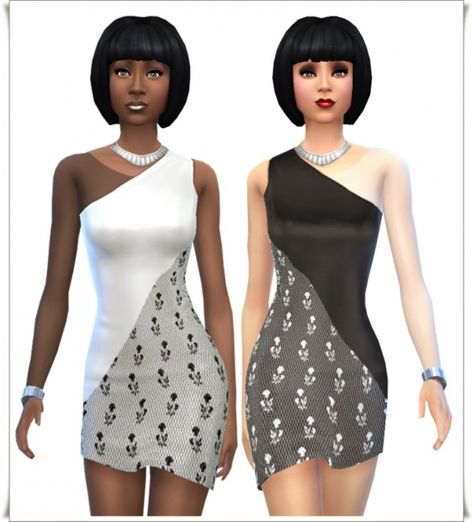 Black & White Party dresses at Annett's Sims 4 Welt image 9614 Sims 4 Updates