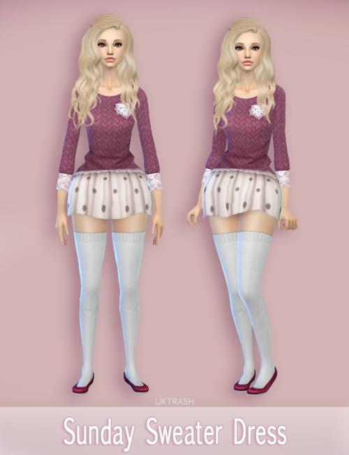 Sims 4 Sunday sweater dress at Mtndewduhh