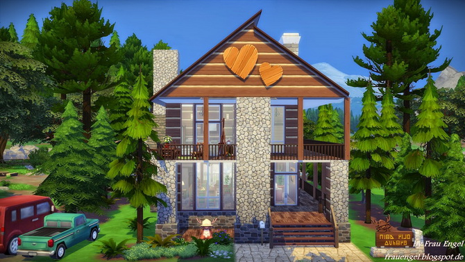 Sims 4 Forest shelter by Julia Engel at Frau Engel