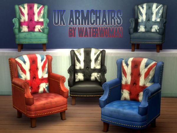 UK Armchairs by Waterwoman at Akisima image 9711 Sims 4 Updates