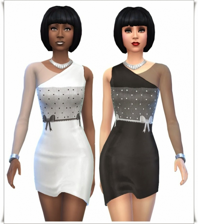 Black & White Party dresses at Annett's Sims 4 Welt image 9716 Sims 4 Updates