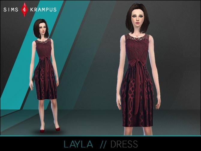Layla dress at Sims 4 Krampus image 9811 Sims 4 Updates