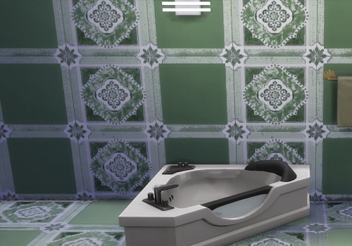Dusty green wall and floor tiles set at Trudie55 image 9919 Sims 4 Updates