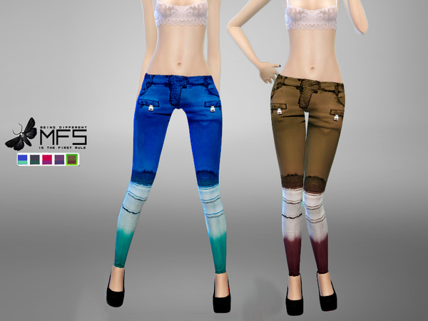 Sims 4 MFS Holly Pants by MissFortune at TSR