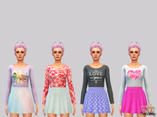 Sims 4 Love Me Forever dress at NiteSkky Sims