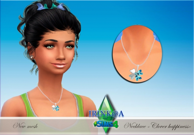 Clover happiness necklace at Irink@a image 10410 Sims 4 Updates