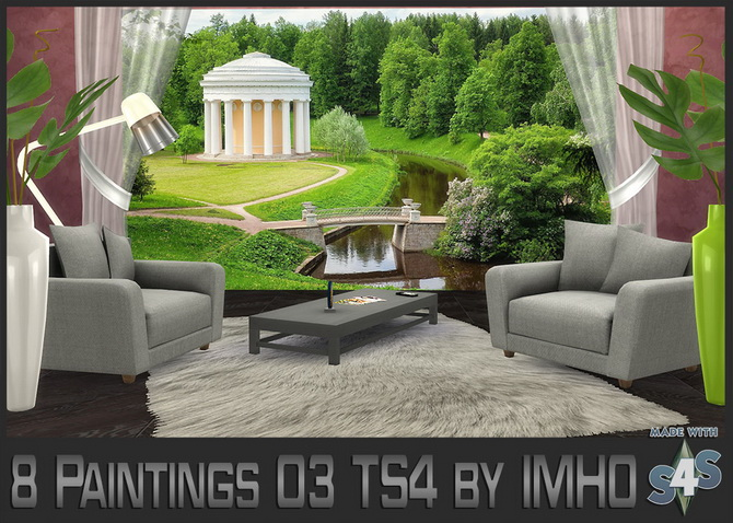 Sims 4 8 Paintings 03 at IMHO Sims 4