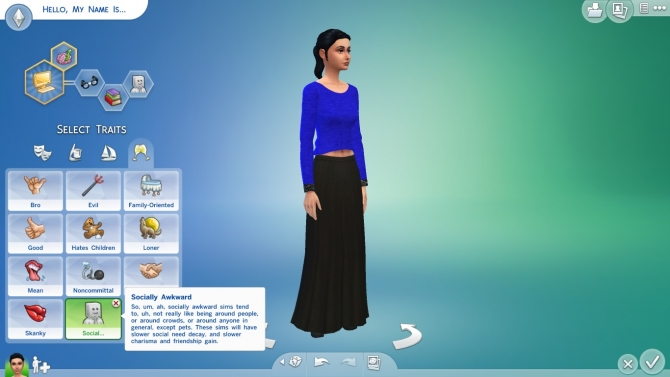 Socially Awkward Trait by Egm2000 at Mod The Sims » Sims 4 Updates