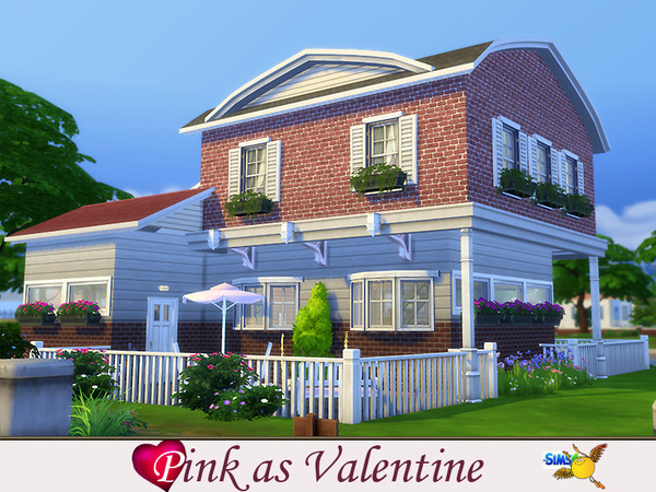 Pink as Valentines house by Evi at TSR image 1070 Sims 4 Updates