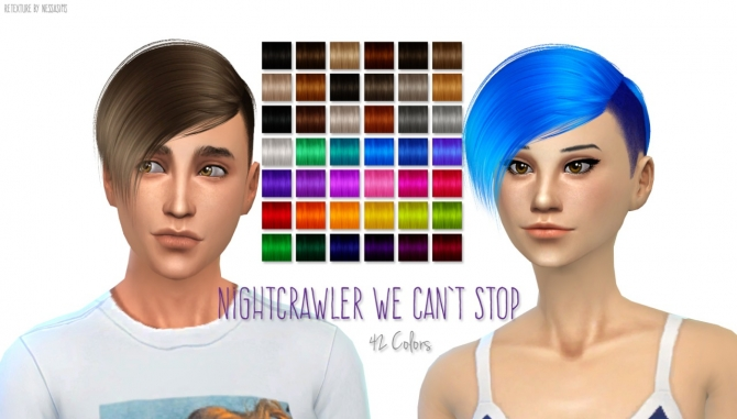 Nightcrawler We Can't Stop hair recolor at Nessa Sims image 1076 Sims 4 Updates