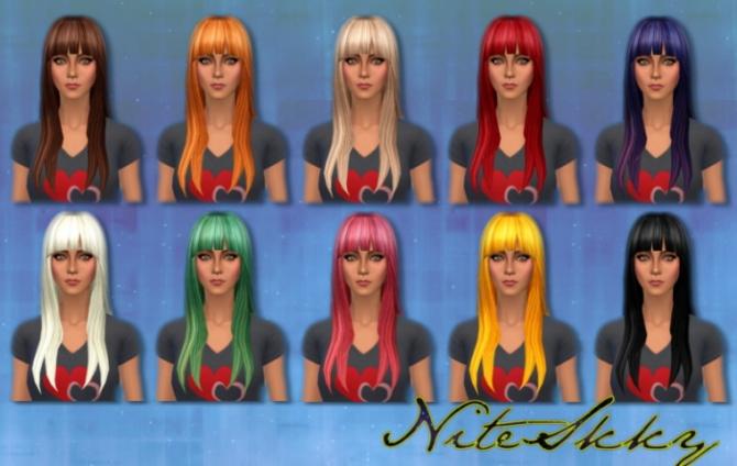 Dress, hair and nails at NiteSkky Sims image 109 Sims 4 Updates