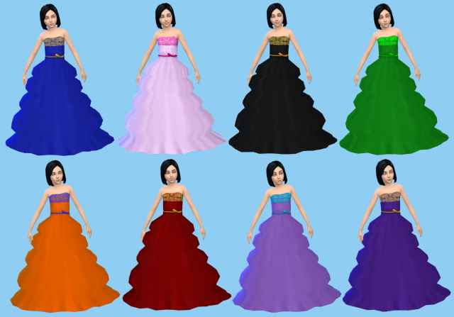 Sims 4 Princess dress by MoonFairy at Everything for your sims