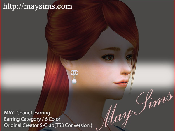 Sims 4 S Clubs earrings conversion at May Sims