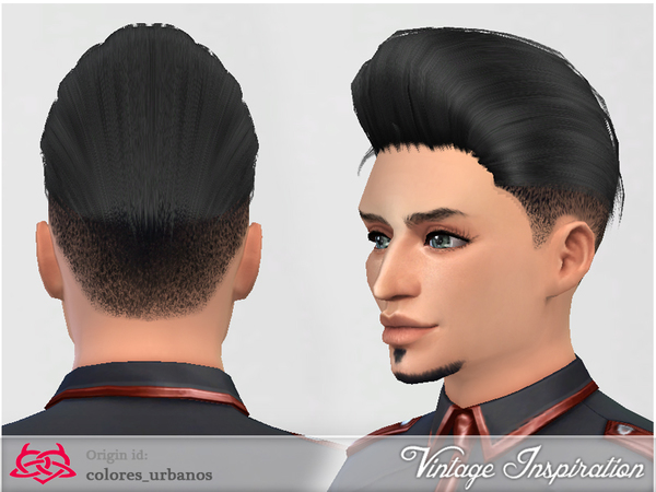 Sims 4 Male hair 01 by Colores Urbanos at TSR