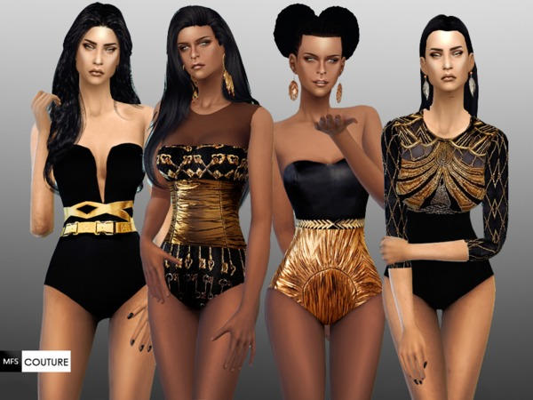MFS Black and Gold Set by MissFortune at TSR image 11105 Sims 4 Updates