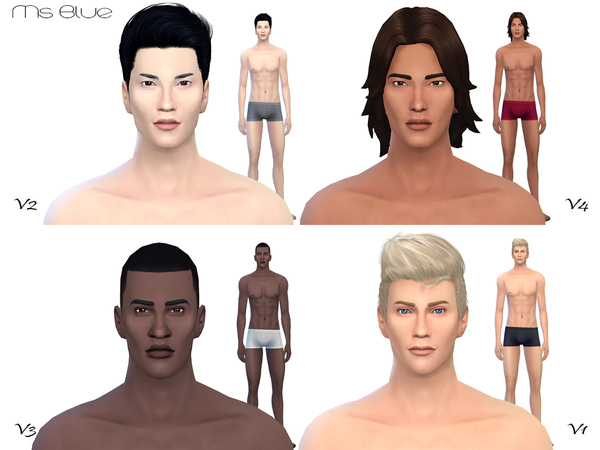 Beauty Skin Male V2 by Ms Blue at TSR » Sims 4 Updates