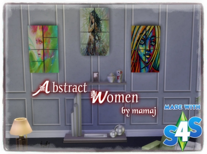 Abstract Women paintings by Mama J at Simtech Sims4 image 1119 Sims 4 Updates