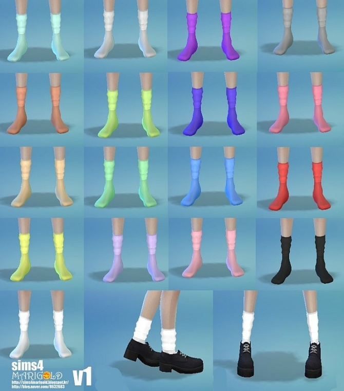 Sims 4 Wrinkle socks set at Marigold