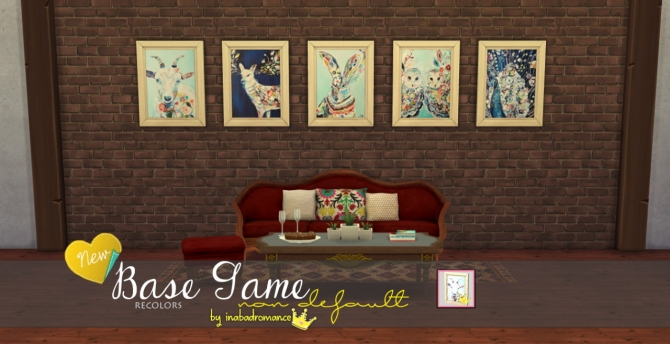Sims 4 Watercolor paintings at In a bad Romance