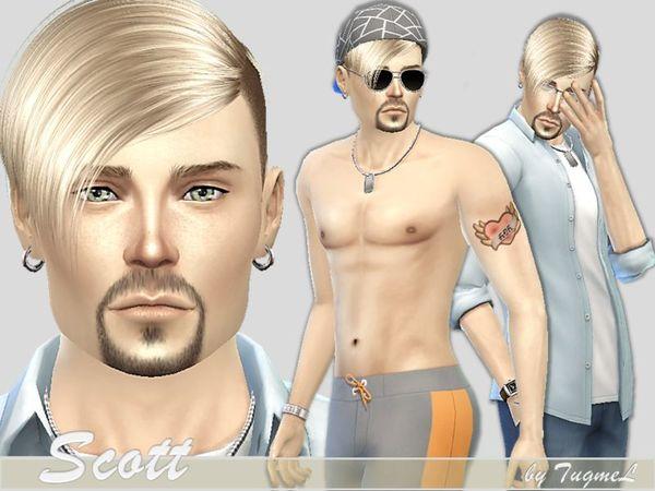 Sims 4 Scott by TugmeL at TSR