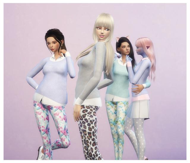 Cute Harajuku Sweaters at Dani Paradise image 1139 Sims 4 Updates
