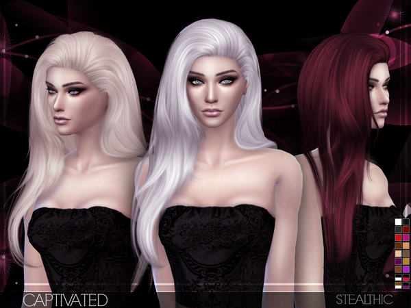 Sims 4 Captivated Hair by Stealthic at TSR