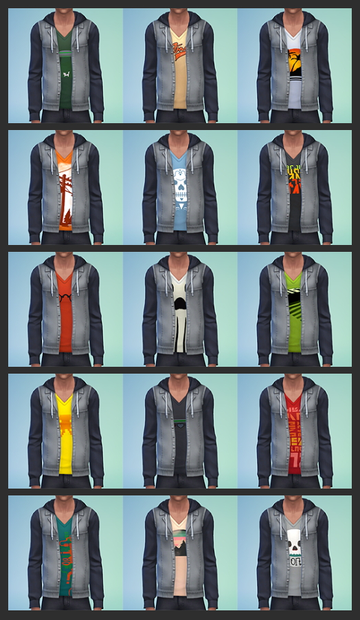 Sims 4 Jacket Hoodie Recoloured at W Sims