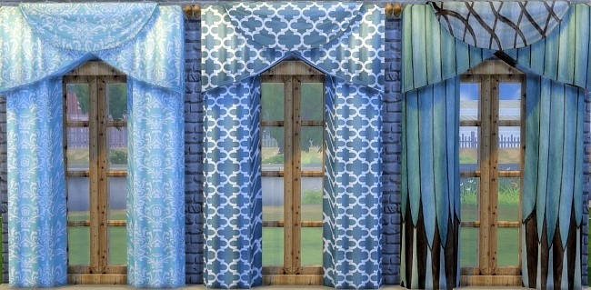 Sims 4 Curtain recolors by Oldbox at All 4 Sims
