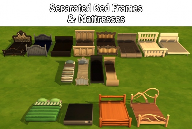 SEPARATED BED FRAMES AND MATTRESSES At Annachibis Sims