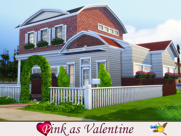 Pink as Valentines house by Evi at TSR image 1190 Sims 4 Updates