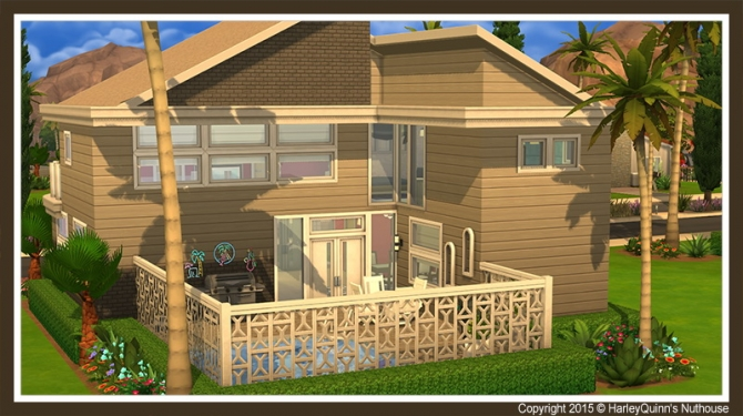 Sims 4 The Boxwood house at Harley Quinn's Nuthouse