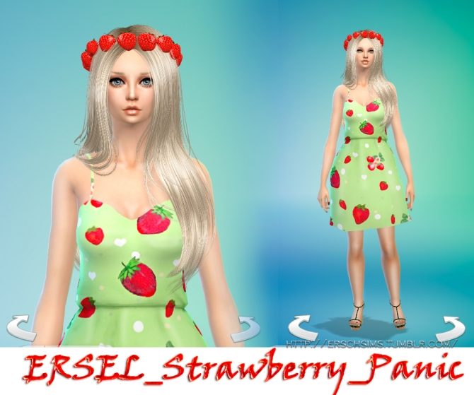 Sims 4 STRAWBERRY PANIC wreath by Ersel at ErSch Sims