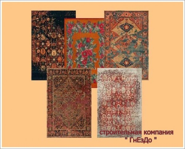 Sims 4 Russian luxury rugs at Sims by Mulena