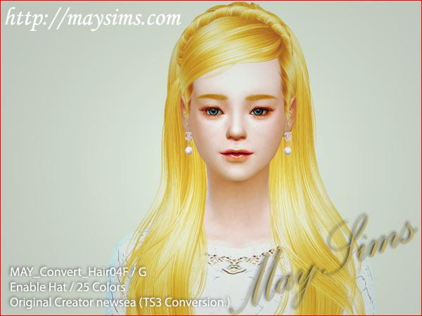 Hair 04 F TS3 Newseas conversion at May Sims image 12015 Sims 4 Updates