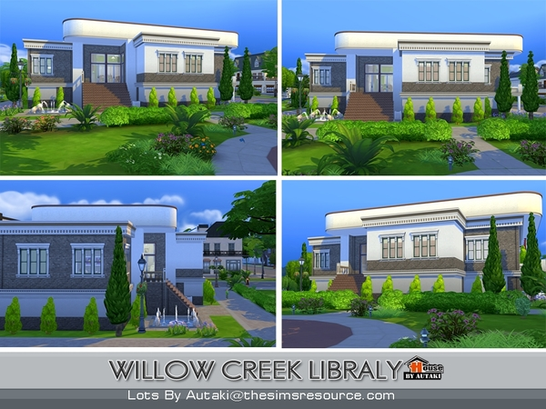 Willow Creek Library by Autaki at TSR image 12106 Sims 4 Updates