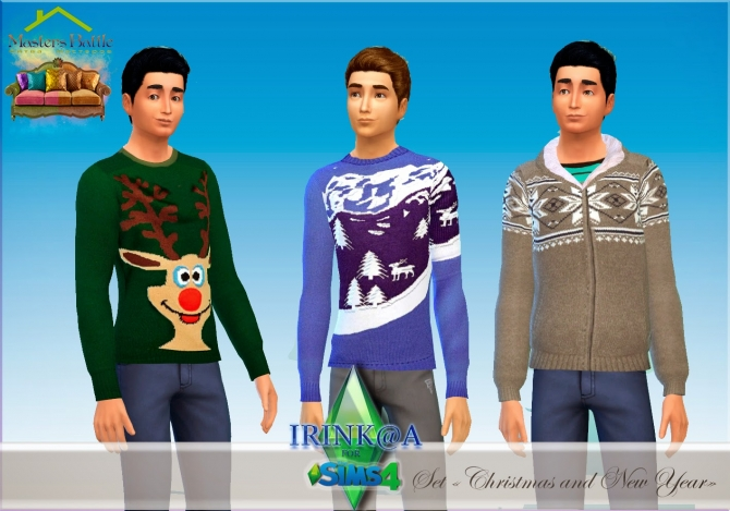 Christmas and New Year sweaters at Irink@a image 122 Sims 4 Updates