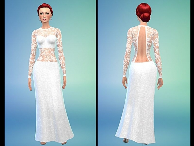 Wedding dresses for sims 4 : Wedding dresses by tacha at simtech sims